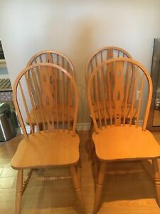 Four wooden kitchen chairs. Pick up only