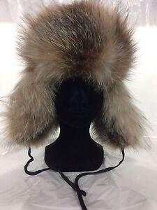 Chapeau fourrure en renard et cuir pour enfants(à partir de $89)