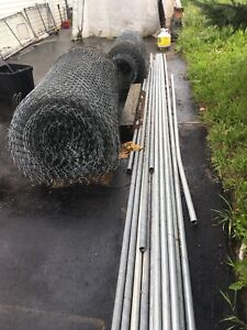 Chain link fencing roll