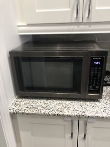 Kitchen Aid Black Stainless Convection Microwave