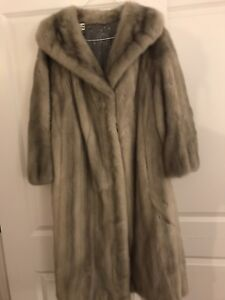 Mink coat light grey size 14-16 in excellent condition.