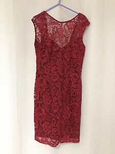 Ladies red lace dress - size 10 Springfield Lakes Ipswich City Preview