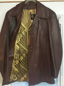 Vintage Leather Blazer Style Jacket
