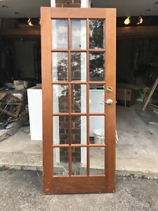 Like new solid wood French Door