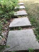Removal and disposal of 14 concrete steps