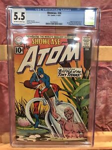 """Showcase #34 CGC 5.5 1st Silver Age Atom """"Off white-white Pages"""""""