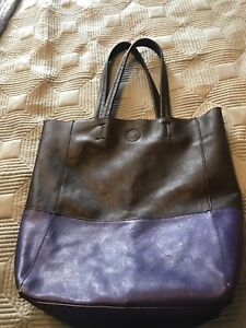 Leather-style tote
