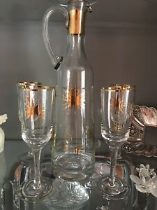 REDUCED PRICE MUST GO - Set of wine glasses with decanter