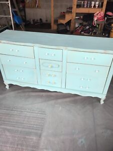 Chalk painted dresser fit for a princess!