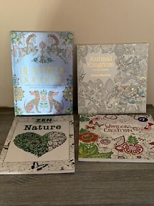 4 Adult Colouring Books
