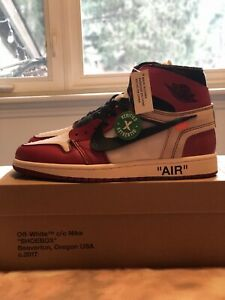 "UA Off White ""Chicago"" Size 10.5 w/ Stock x Tag"
