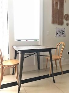 Tolix style dining table