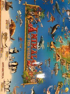 Map world poster in perth region wa gumtree australia free local new large animal of the world map poster gumiabroncs Image collections