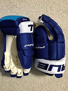 """MITCH MARNER NHL PRO STOCK GAME ISSUED TRUE 14"""" HOCKEY GLOVES"""