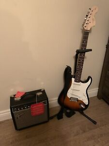 Squier electric guitar and fender amp set!