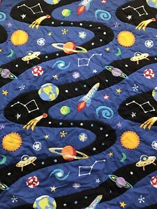 Space themed full/double sized comforter (+ bed skirt)