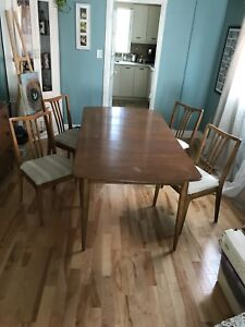 Solid wood dining room set with buffet cabinet