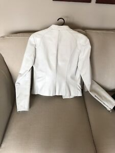White Danier Leather Jacket, Great Condition.
