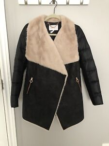 BCBG Shearling Coat - Brand New