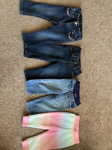 Girls jeans pants lot size 9-12 months