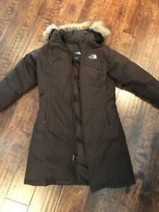 North Face Winter Jacket - Brown with fur hood