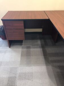 Office desk and cabinet set
