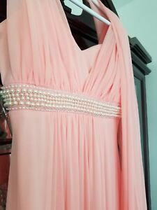 Beautiful Made of honor or Prom dress with pearls