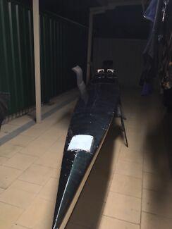 Fibreglass racing kayak