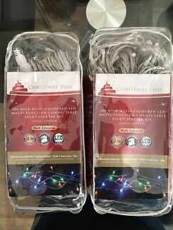 NEW - 400 Connectable LED Christmas lights - 2 packs x 200