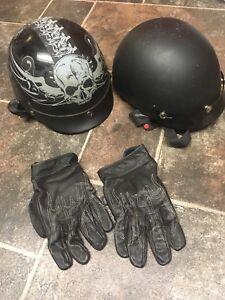 Motorcycle Helmet(s) and gloves