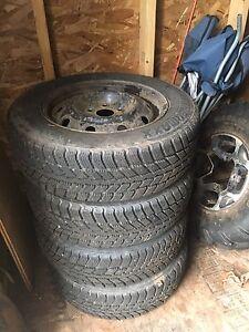 185/65R14 Winter tires and rims 220$