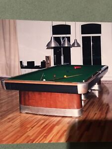 Table de snooker Brunswick Art Deco 1950, parfaite condition