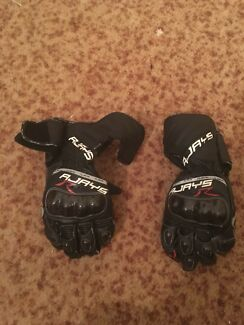 Motor bike helmet, jacket and gloves
