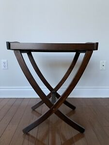 Rectangle Wood End Table (2-in-1)