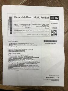 Cavendish Beach Music Festival Ticket