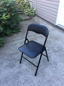 Black Foldable Classy Chairs
