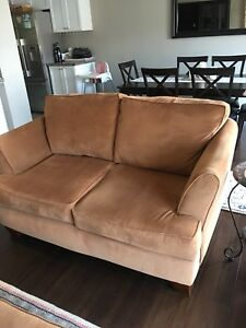 Love Seat with matching Chair and Ottoman
