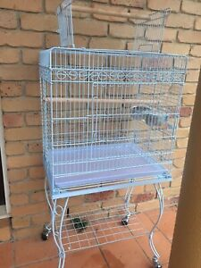 Brand NEW open roof deluxe flight cage & fancy trolley;flatpacked $130 Meadowbrook Logan Area Preview