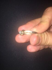 10K white and yellow gold size 6 promise ring.