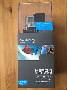Go Pro GoPro Hero4 Silver Action Camera NEW w/ 7pcs Accessories