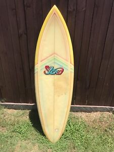 """Mead vintage single fin surfboard 5'9"""" retro rider"""