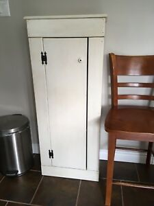Antique White Solid Pine Cabinet