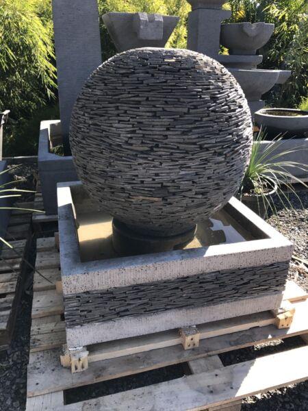 Stone water feature- bali slate stone sculpture