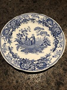 """Spode reproduction plates """"Girl at the Well"""" and """"Botanical"""""""