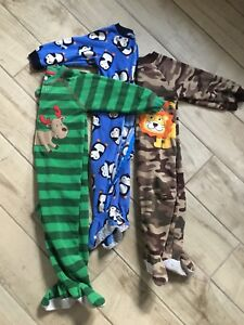 Fleece baby boy sleepers