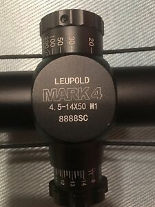 Leupold scope mark 4  4.5-14x50. M1 copy