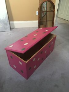 Solid pine chest. Painted pink