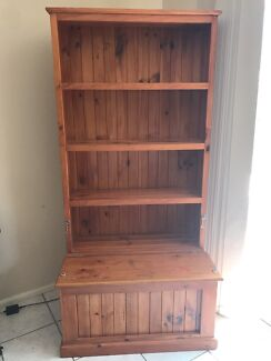 Solid Timber Bookcase And Toy Box