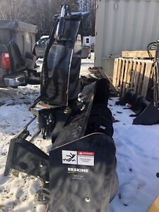 Erskine never used hydraulic snowblower