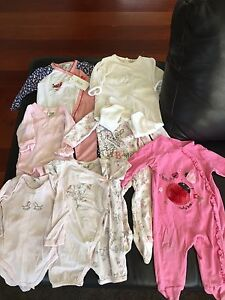 Baby girls size 6-9 months onesies - Bebe, Fox n Finch, Disney Sunbury Hume Area Preview